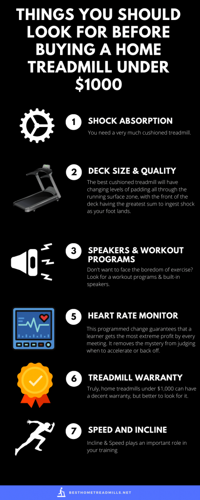 Factors to consider while buying home treadmill under 1000