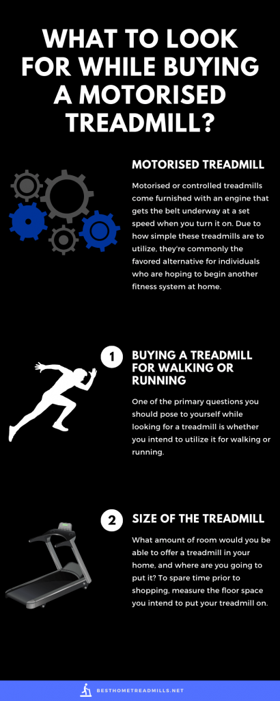 Factors to consider while buying motorised home treadmill